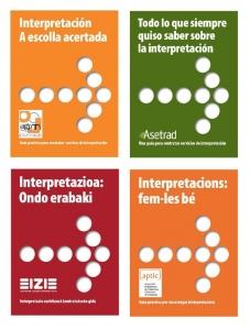 Guía de Interpretación traducida a gallego, castellano, euskera y catalán.