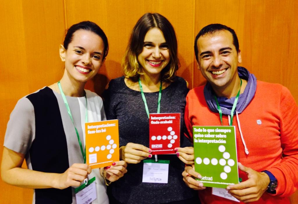 María Galán, Maya Busqué y José-Luis Morais